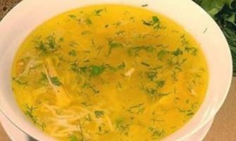 Суп-локшина з гарбузом і кефіром