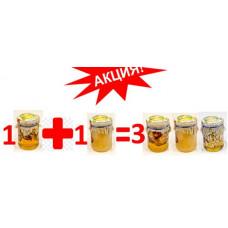 Акція при купівлі 2 будь-яких баночок меду, 3 в подарунок !!!!