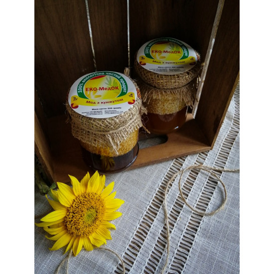 Мед з кунжутом ЕКО-МедОК, 320 грамів
