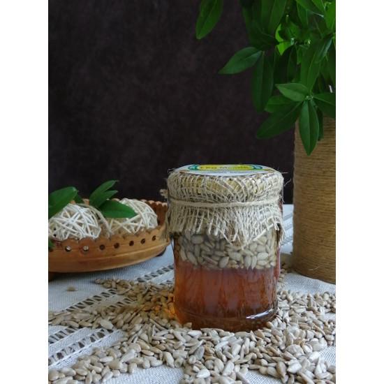 Мед з насінням соняшнику ЕКО-МедОК, 320 грамів