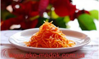 Салат з моркви, меду та горіхів