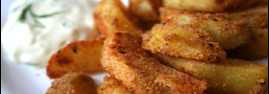 Печена картопля з гірчично-медовою заправкою
