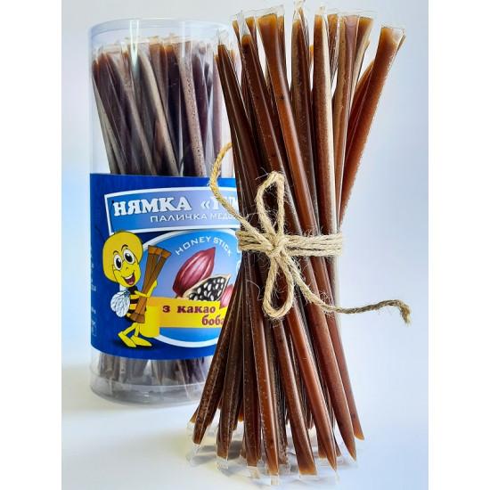 Стік з медом Какао боби (шоколад) «НЯМКА», по 10 грамів (100 шт)